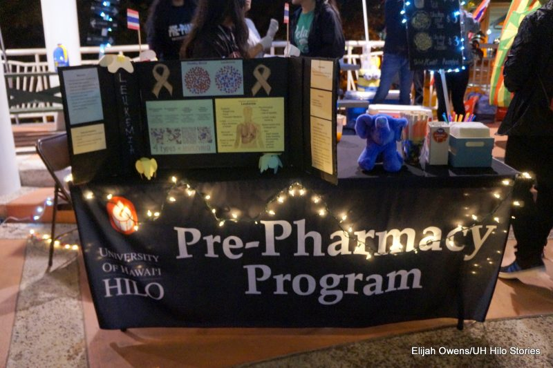 Pre-Pharm program table with sign.