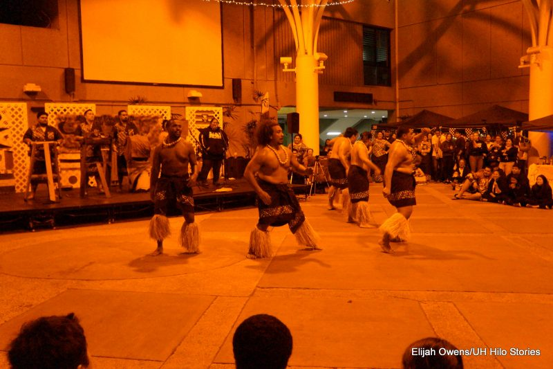 Sāmoan group dancing, men.