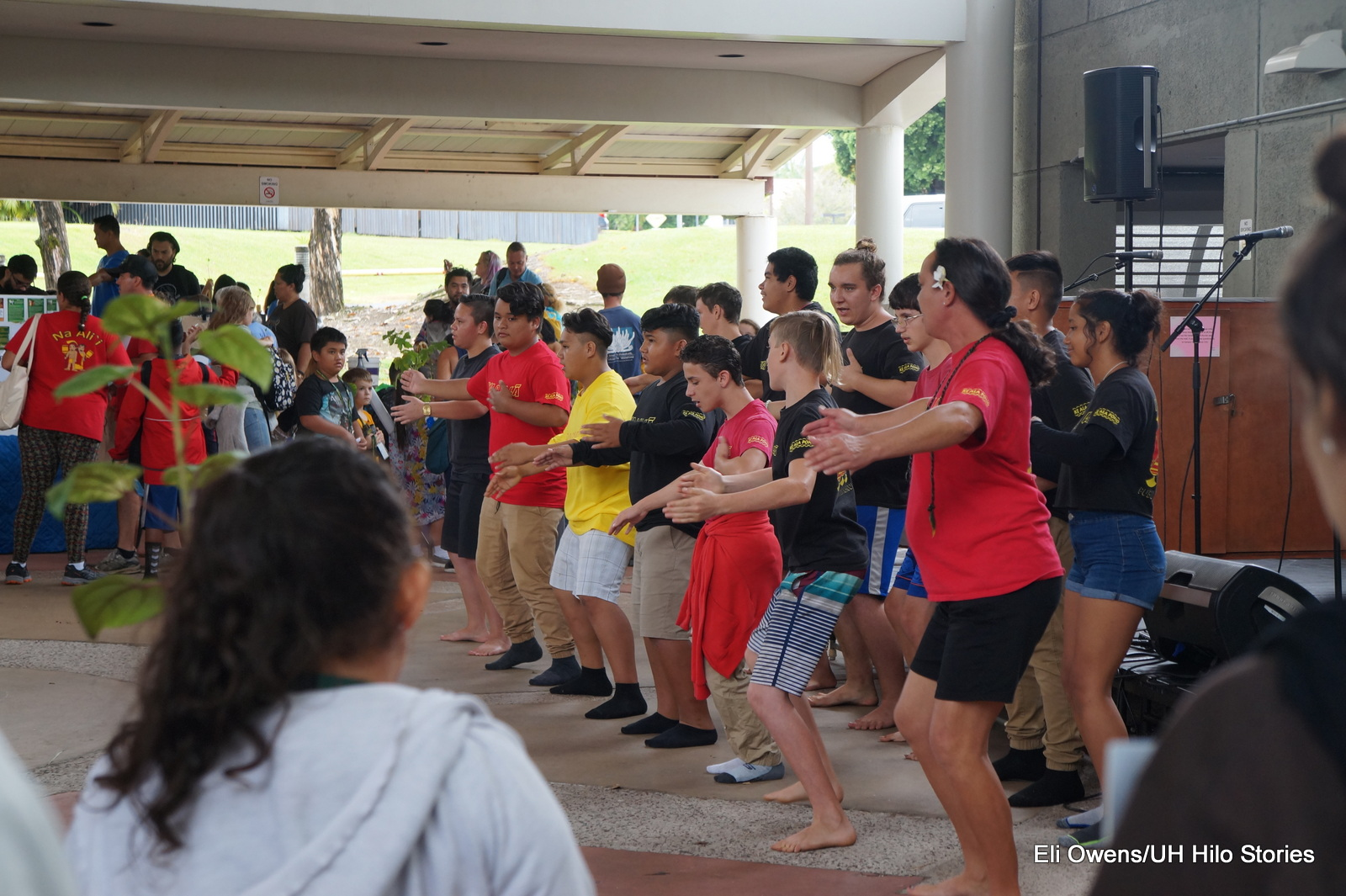 GROUP DANCING.
