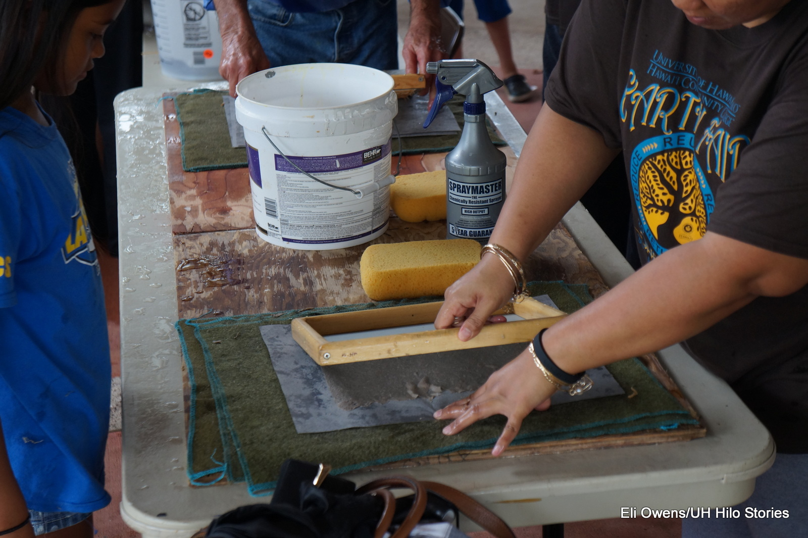 PAPERMAKING USING FRAME.