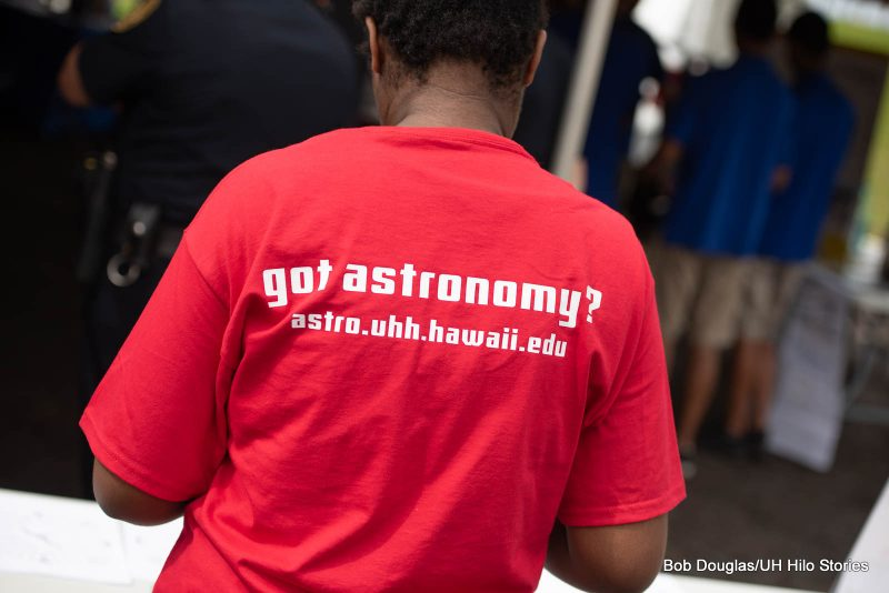 Back of tshirt that reads: got astronomy? astro.uhh.hawaii.edu