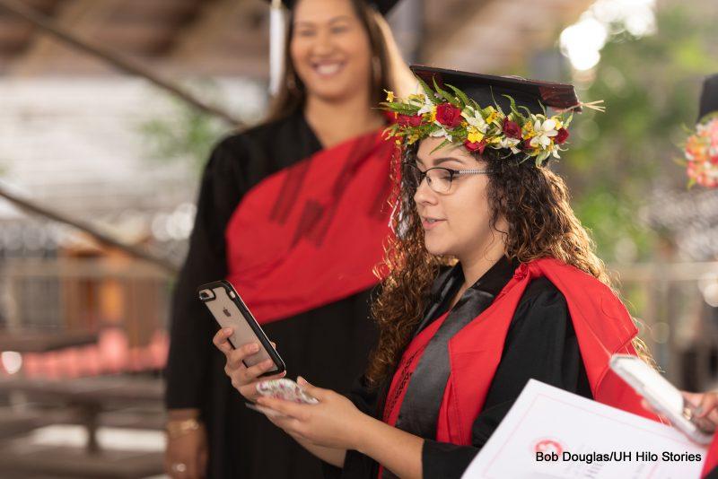Women Graduates in regalia.