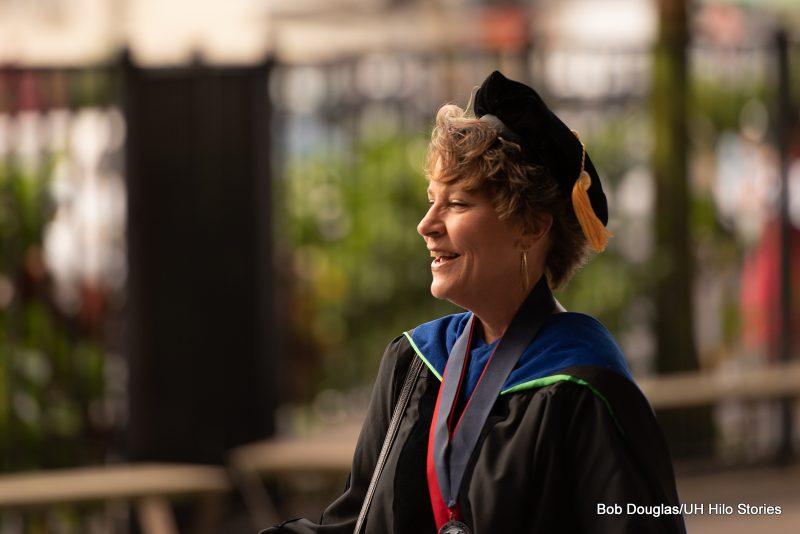 Professor Cheryl Ramos in regalia.