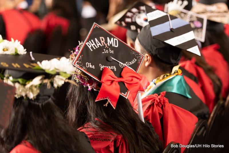 Mortarboard with the words: Pharm D.