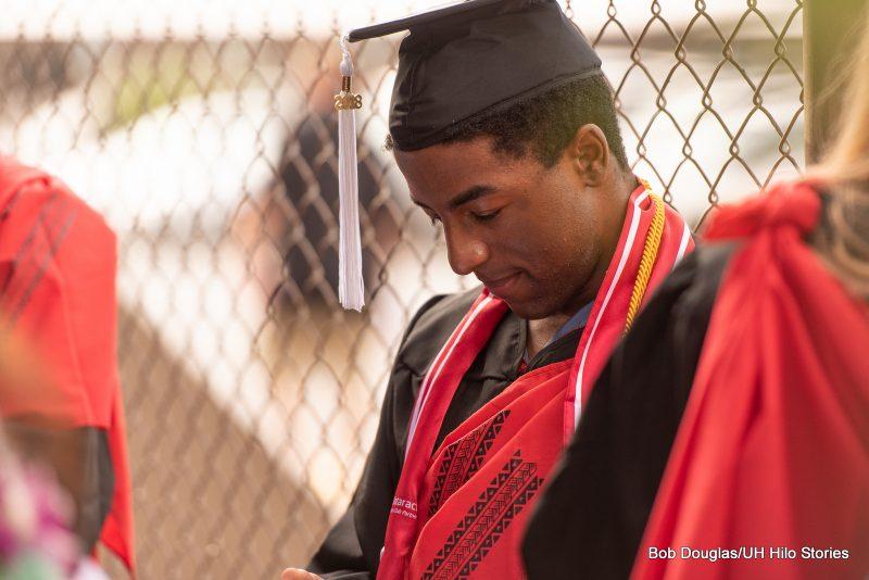 Graduate in regalia.