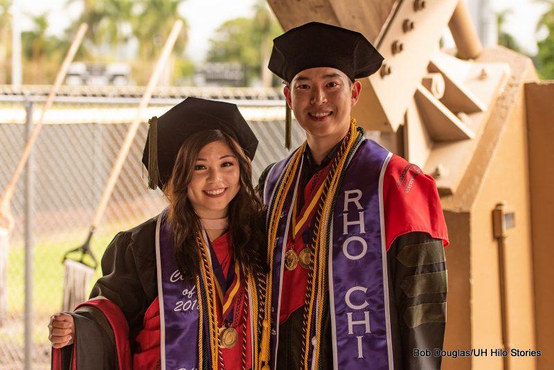 Honors Graduates in regalia.