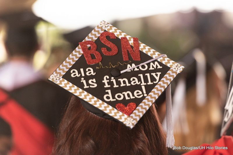 Mortarboard with the words: BSN ala Mom is finally done!