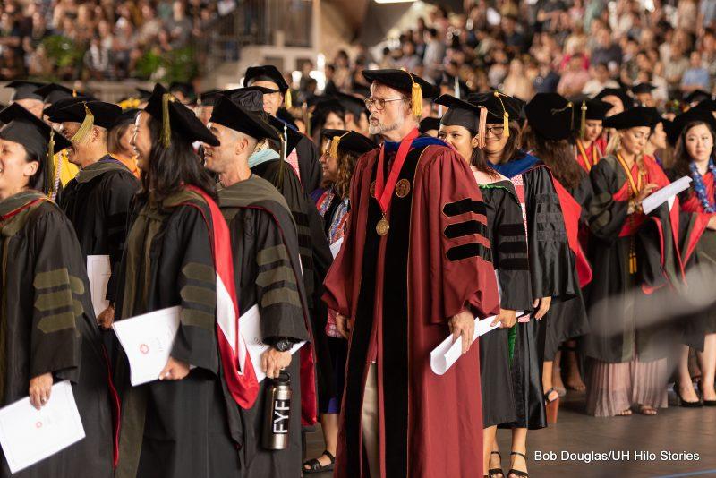 Pharmacy graduates with faculty.