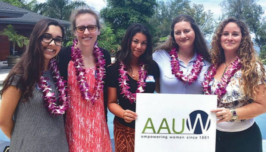 Five UH Hilo students receive scholarships from Hilo branch of American Association of University Women