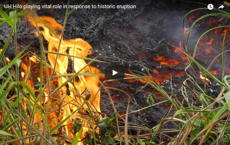 UH Hilo has vital role in response to historic lava eruption on Hawaiʻi Island