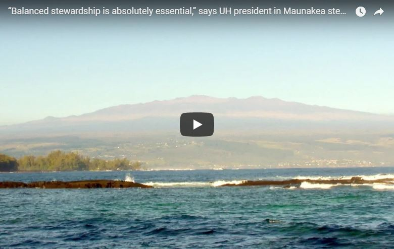 Update on Maunakea stewardship