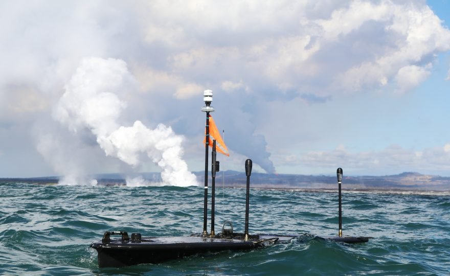 At Kapoho Bay, UH Hilo researchers are using seafaring robots to study lava entering ocean