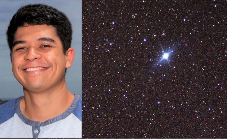 UH Hilo astronomy student Austin Jennings conducts spectral research