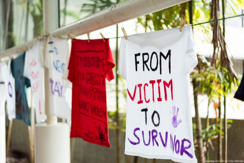 T-shirt with words: FROM VICTIM TO SURVIVOR