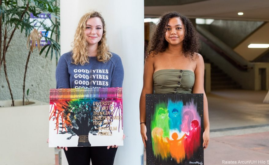 Three UH Hilo students win awards for diversity-themed artwork and poetry