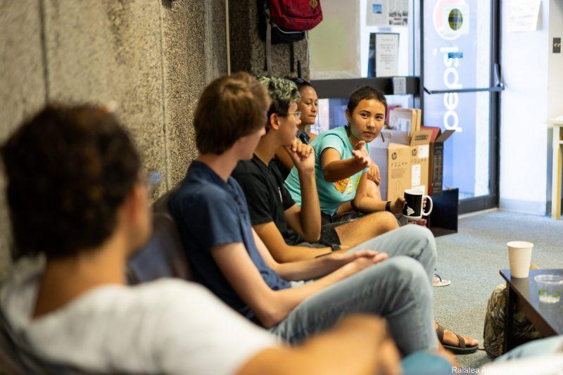 Group talking.