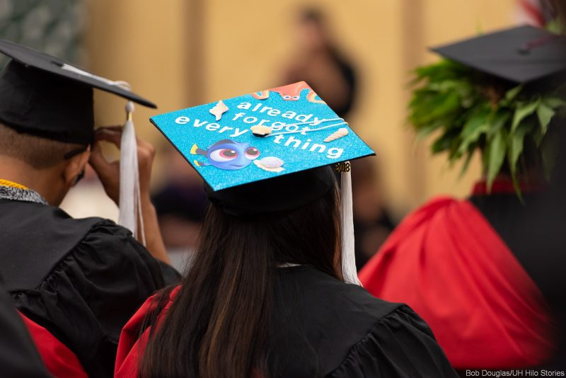 Words on mortarboard: ALREADY FORGOT EVERYTHING