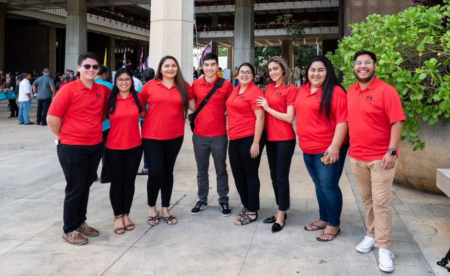 UH Hilo student leaders attend opening of 2019 Hawai'i State Legislature