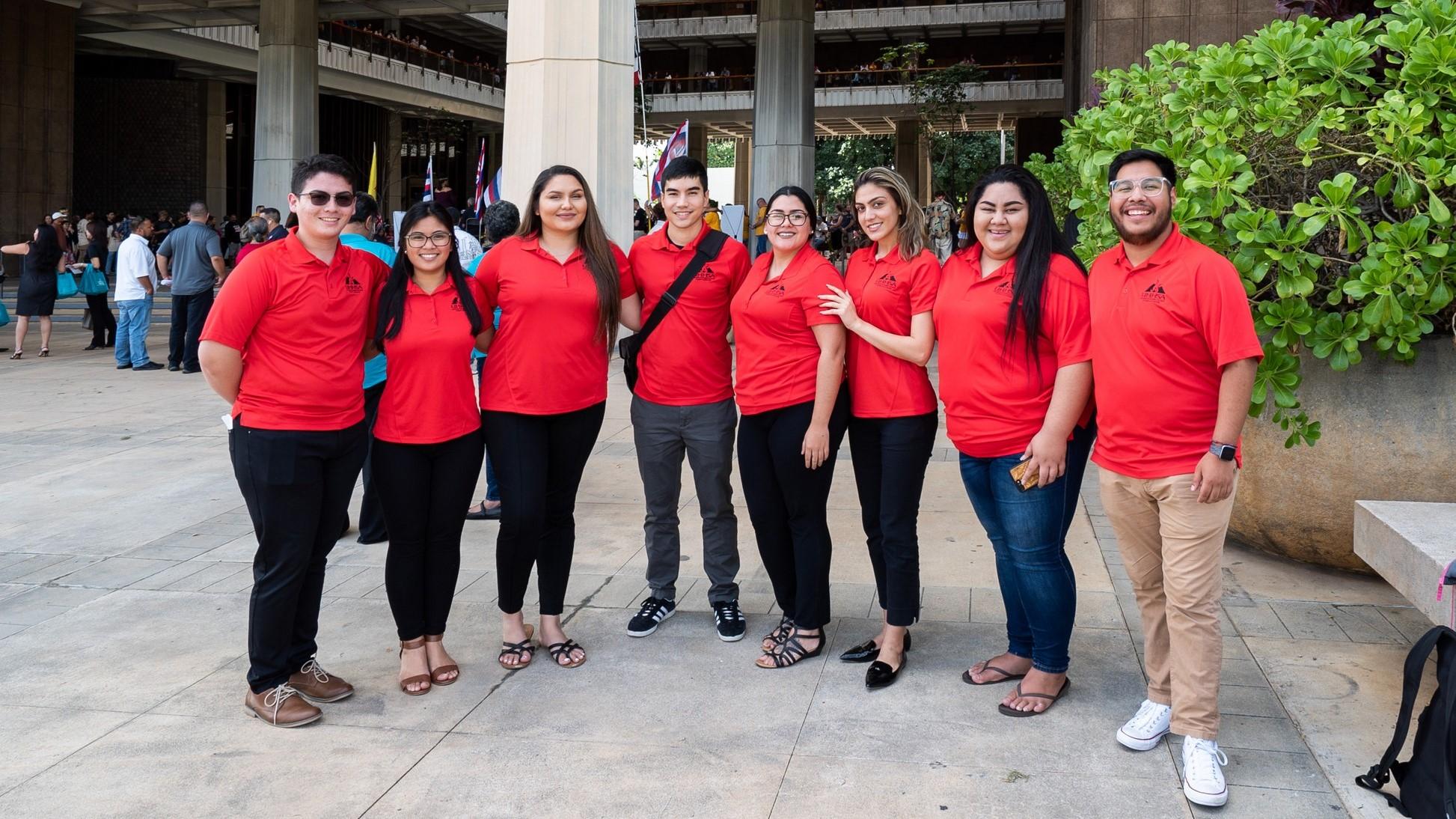 UH Hilo student leaders attend opening of 2019 Hawai'i State Legislature