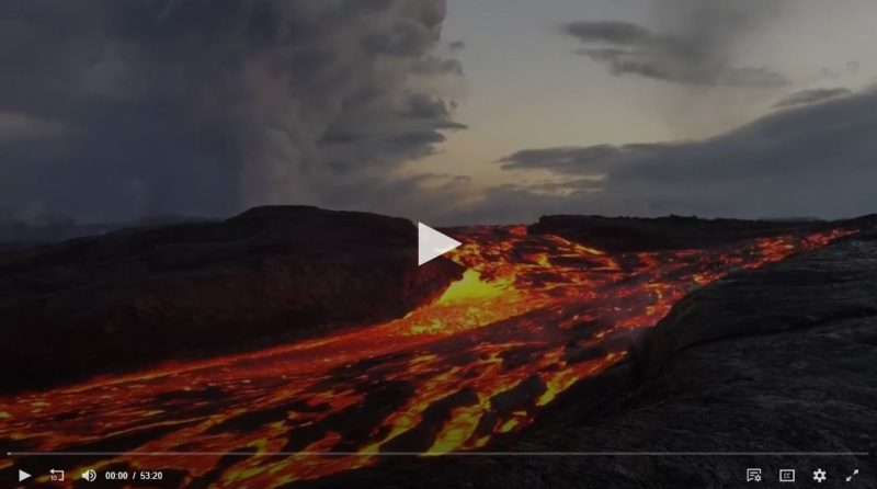 Video screenshot of lava flow.