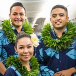 Hawaiian Airlines attendents.