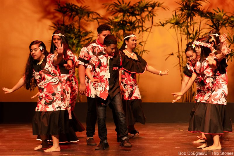 Group Marshallese dancers.