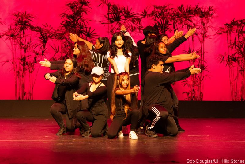 Modern dancers in street clothes
