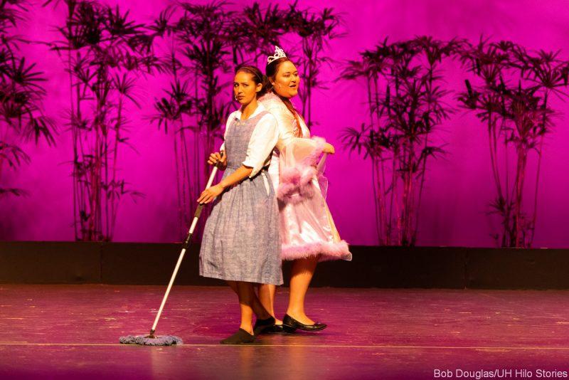 Two women dancing