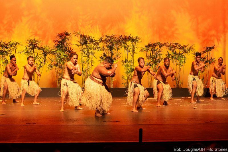 Kosrae dancers in grass dress