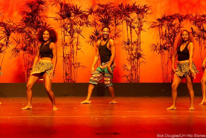 Dancers doing modern/African dance