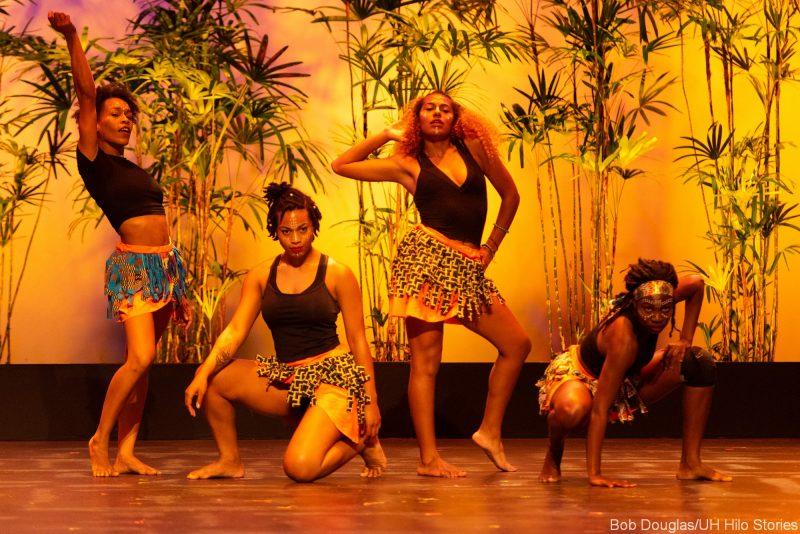 Four women dancers posing.