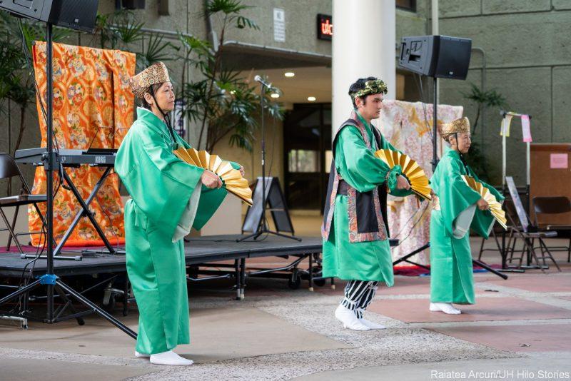 Group doing Okinawan Dance.