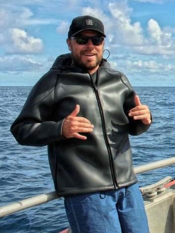 John Burn on boat.