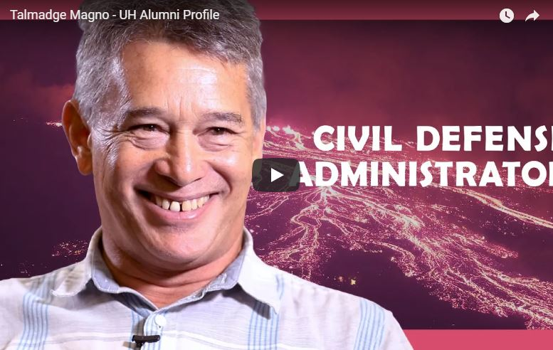 VIDEO: UH Hilo alumnus steers emergency response on Hawaiʻi Island