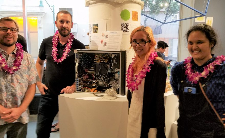 UH Hilo art and science departments collaborate on modern 3D work of art, now on exhibit at Honolulu art show