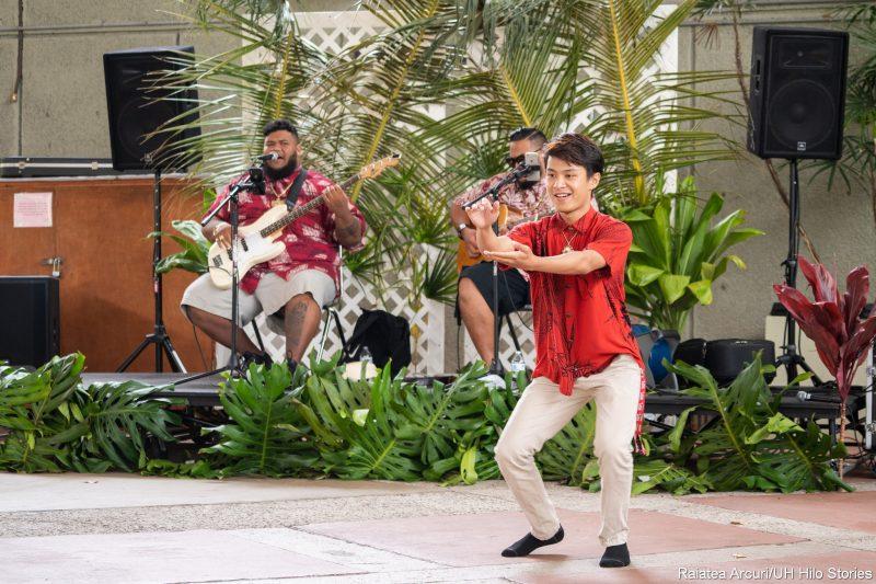 Student doing hula.