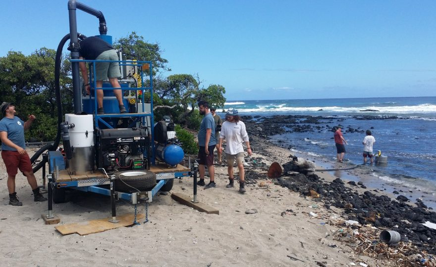 UH Hilo student gathers data on effectiveness of new machine designed to rid local beach of microplastics
