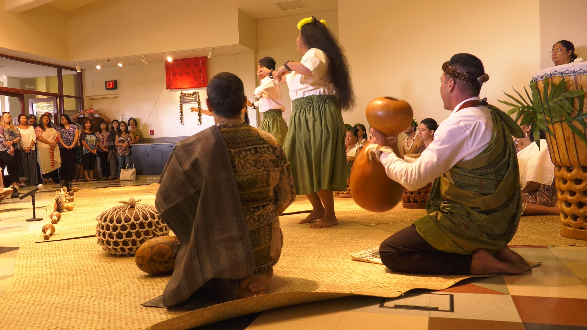 Dancers and drummers.