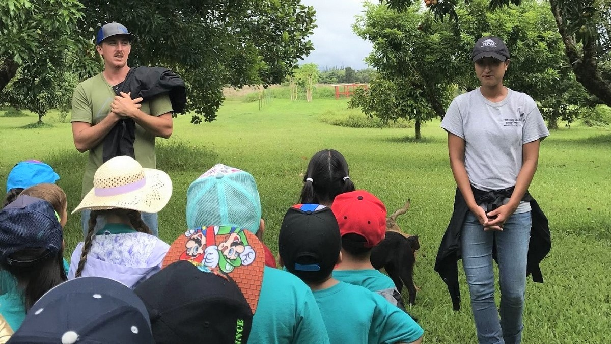 Schoolchildren learn about farming and livestock at UH Hilo Ag Farm - UH Hilo Stories