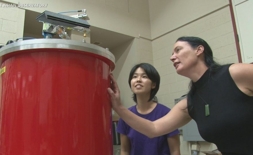 UH Hilo Hawaiian language expert Larry Kimura names new telescope instrument Nāmakanui (The Big Eyes)