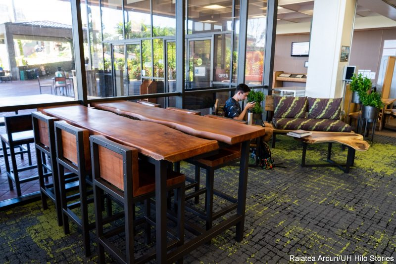 The River Table and other new furniture in the Library Lobby.
