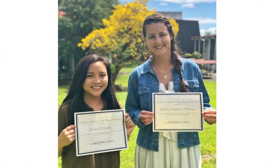 Two UH Hilo students receive scholarships in support of their global education