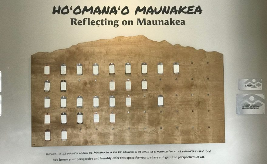 New exhibit at 'Imiloa Astronomy Center invites visitors to share their mana'o about Maunakea