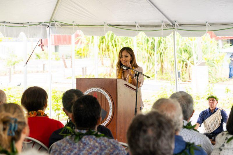 Jessica Toyama at podium