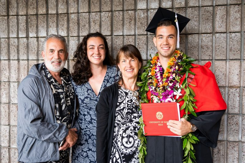 Family with graduate.
