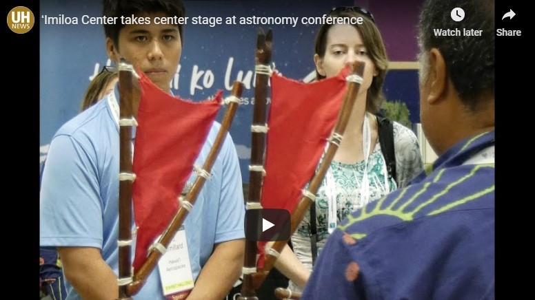 National astronomical society conference features large exhibit by UH Hilo astronomy center