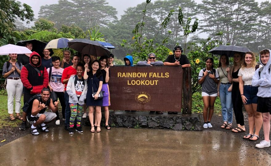 Photos: UH Hilo's new international students tour their new island home