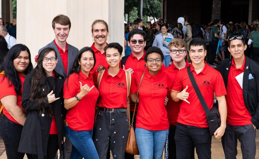 Photos: UH Hilo student leaders attend Opening Day of 2020 Hawai'i State Legislature