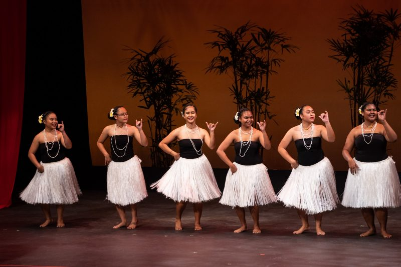 Dancers gesture.