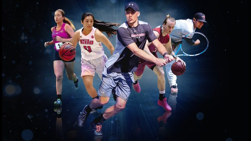 Collage of several athletes.